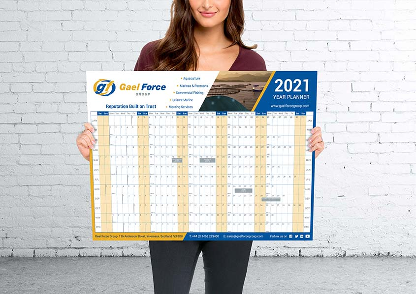 Gael Force Year Planner Printing