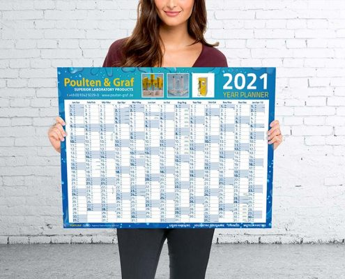 Poulten & Graf Wall Planner Printing
