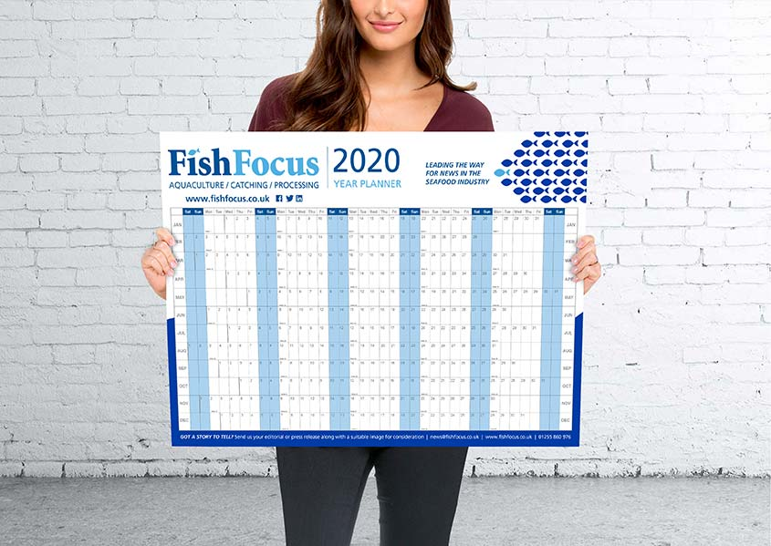 Fish Focus Wall Planner Printing